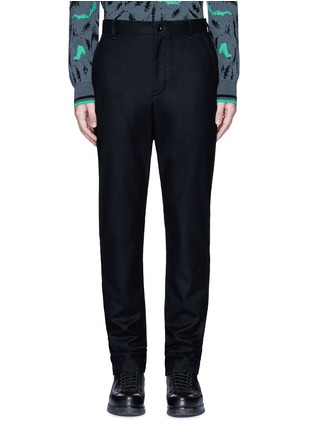 Main View - Click To Enlarge - Sacai - Slim fit ribbed cuff wool pants