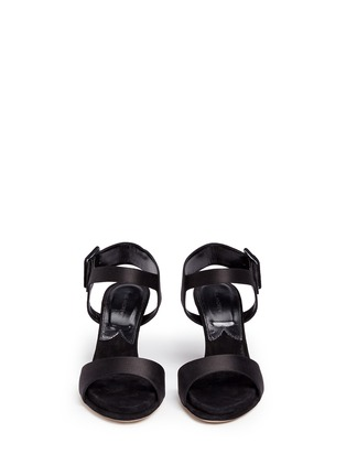 Front View - Click To Enlarge - Paul Andrew - 'Kalida' buckle satin slingback sandals