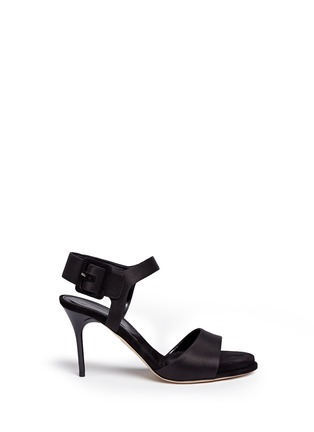 Main View - Click To Enlarge - PAUL ANDREW - 'Kalida' buckle satin slingback sandals