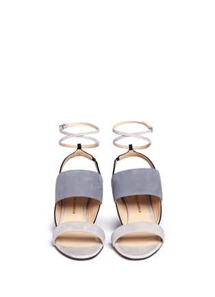 Front View - Click To Enlarge - Paul Andrew - 'Xiamen' colourblock suede strappy sandals