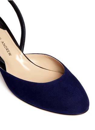 Detail View - Click To Enlarge - Paul Andrew - 'Celestine' leather slingback suede pumps