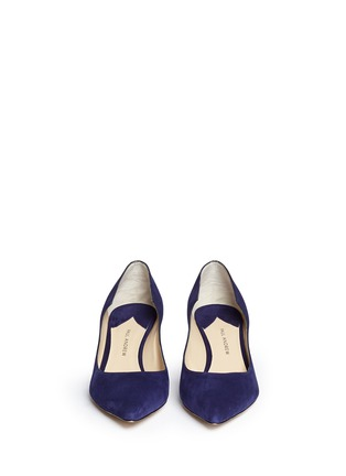 Front View - Click To Enlarge - PAUL ANDREW - 'Manhattan' suede pumps