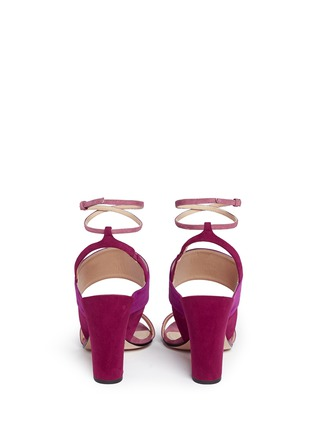 Back View - Click To Enlarge - Paul Andrew - 'Xiamen' colourblock suede slingback sandals