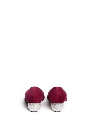 Back View - Click To Enlarge - PAUL ANDREW - 'Ankara' Swarovski crystal pavé heel suede pumps
