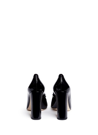 Back View - Click To Enlarge - - - Jewel brooch patent leather pumps
