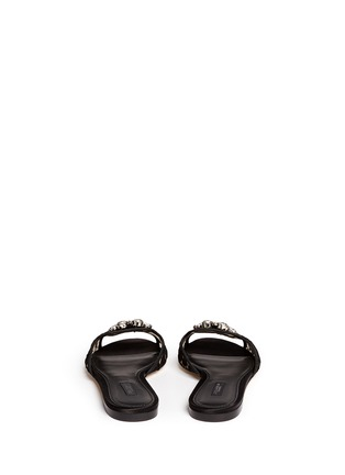 Back View - Click To Enlarge - Dolce & Gabbana - 'Bianca R' jewelled Taormina lace slippers