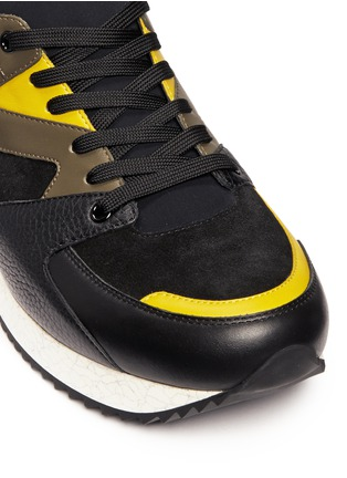 Detail View - Click To Enlarge - Dolce & Gabbana - 'Belgrado' combo leather sneakers
