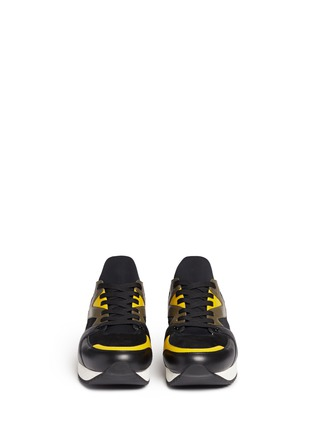 Front View - Click To Enlarge - Dolce & Gabbana - 'Belgrado' combo leather sneakers