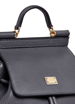 Detail View - Click To Enlarge - Dolce & Gabbana - 'Miss Sicily' mini grainy leather backpack