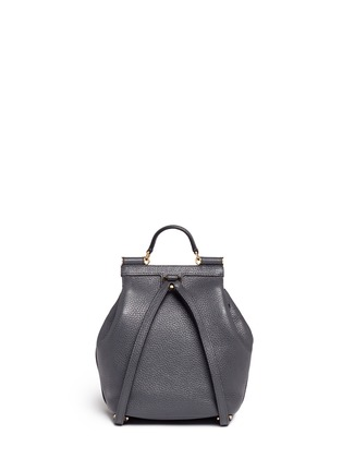 Back View - Click To Enlarge - Dolce & Gabbana - 'Miss Sicily' mini grainy leather backpack