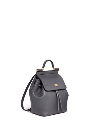 Front View - Click To Enlarge - Dolce & Gabbana - 'Miss Sicily' mini grainy leather backpack