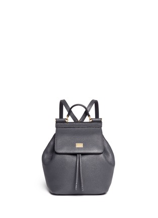 Main View - Click To Enlarge - Dolce & Gabbana - 'Miss Sicily' mini grainy leather backpack