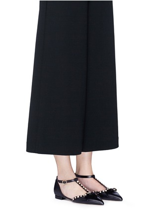 Figure View - Click To Enlarge - Kate Spade - 'Becca' jewelled bow T-strap leather flats