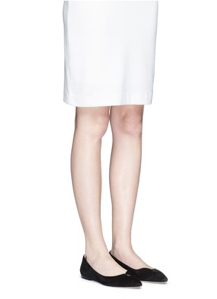 Figure View - Click To Enlarge - SAM EDELMAN - 'Ruby' keyhole vamp suede skimmer flats