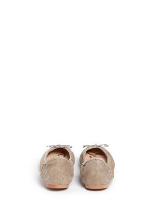 Back View - Click To Enlarge - Sam Edelman - 'Felicia' suede ballet flats