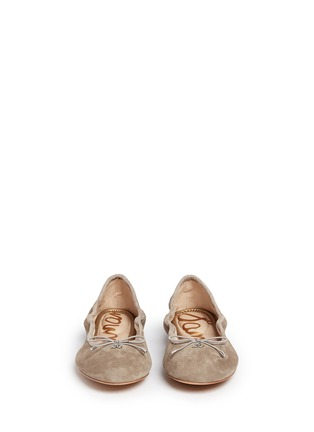Front View - Click To Enlarge - Sam Edelman - 'Felicia' suede ballet flats