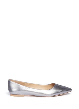 Main View - Click To Enlarge - SAM EDELMAN - 'Ruby' keyhole vamp metallic leather flats