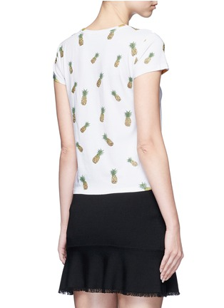 Back View - Click To Enlarge - alice + olivia - 'Robin' pineapple embellished T-shirt