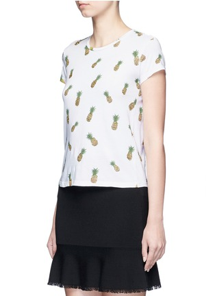Front View - Click To Enlarge - alice + olivia - 'Robin' pineapple embellished T-shirt