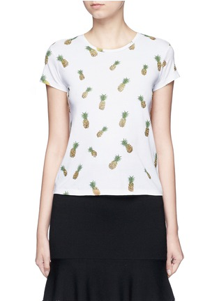 Main View - Click To Enlarge - alice + olivia - 'Robin' pineapple embellished T-shirt