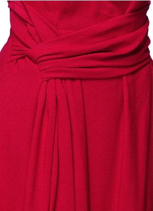 Detail View - Click To Enlarge - LANVIN - Draped sash textured skirt
