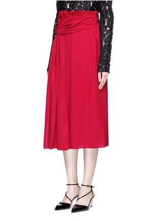 Front View - Click To Enlarge - LANVIN - Draped sash textured skirt