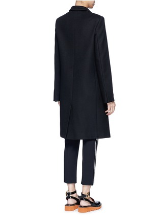 Back View - Click To Enlarge - Stella McCartney - Falabella chain wool blend melton overcoat