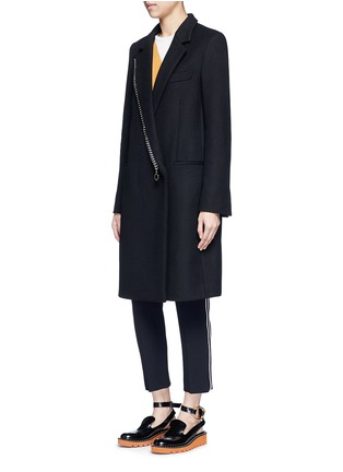 Figure View - Click To Enlarge - Stella McCartney - Falabella chain wool blend melton overcoat