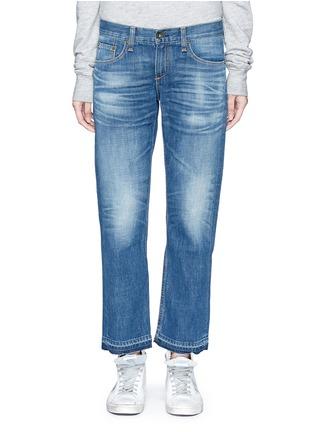 Detail View - Click To Enlarge - rag & bone/JEAN - 'X Boyfriend' slim fit straight leg jeans