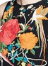 Detail View - Click To Enlarge - alice + olivia - 'Clarice' floral embroidery fringe chiffon top