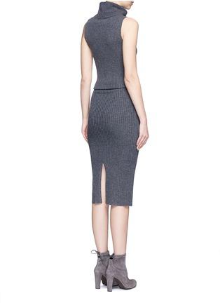 Back View - Click To Enlarge - alice + olivia - 'Arra' rib knit turtleneck dress
