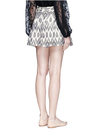 Back View - Click To Enlarge - alice + olivia - 'Scarlet' ikat print flutter shorts