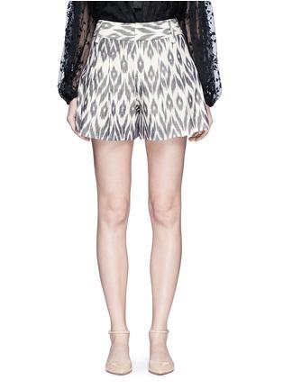 Main View - Click To Enlarge - alice + olivia - 'Scarlet' ikat print flutter shorts