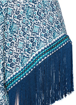 Detail View - Click To Enlarge - TALITHA - 'Zoya' tribal print silk cover-up