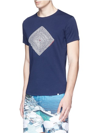 Front View - Click To Enlarge - Orlebar Brown - 'OB-T Aboriginal' geometric print T-shirt