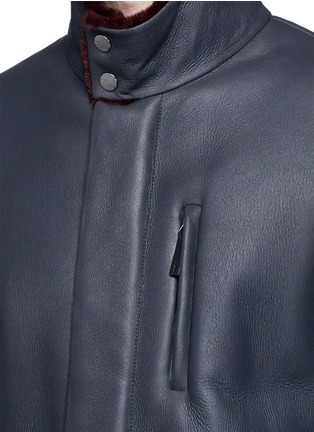 Detail View - Click To Enlarge - ARMANI COLLEZIONI - Shearling coat