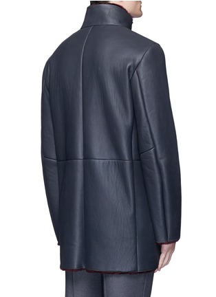 Back View - Click To Enlarge - ARMANI COLLEZIONI - Shearling coat