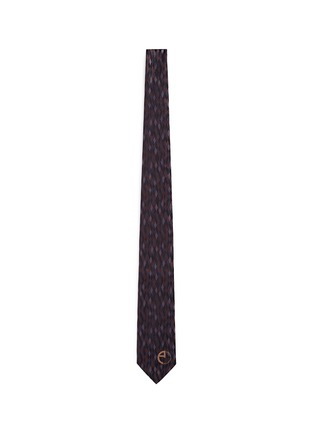 Main View - Click To Enlarge - Armani Collezioni - Diamond jacquard silk tie
