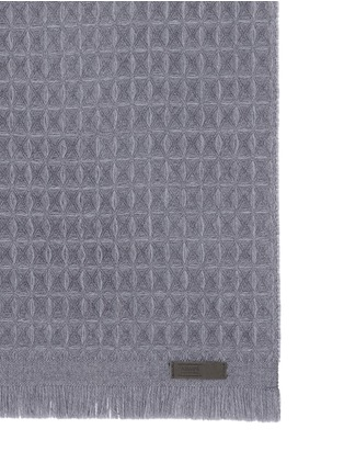 Detail View - Click To Enlarge - ARMANI COLLEZIONI - Textured check wool scarf