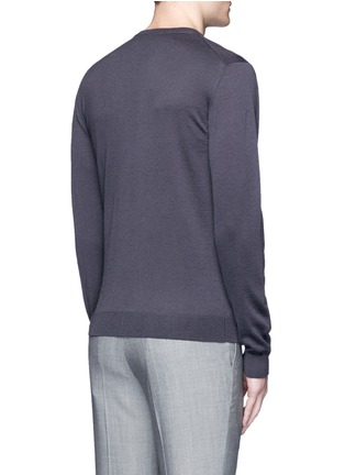 Back View - Click To Enlarge - Armani Collezioni - V-neck wool sweater