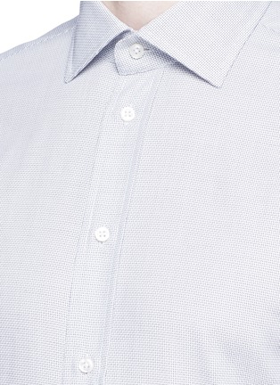 Detail View - Click To Enlarge - ARMANI COLLEZIONI - Slim fit check cotton shirt