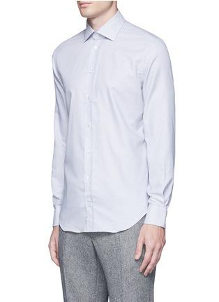 Front View - Click To Enlarge - ARMANI COLLEZIONI - Slim fit check cotton shirt