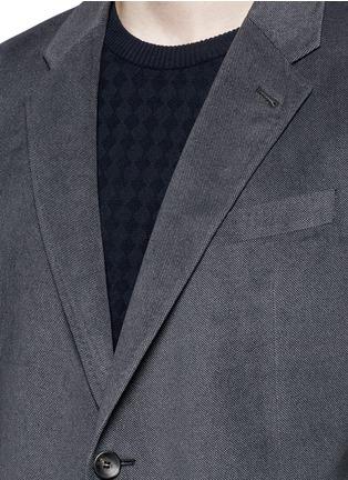 Detail View - Click To Enlarge - ARMANI COLLEZIONI - Notched lapel velvet blazer