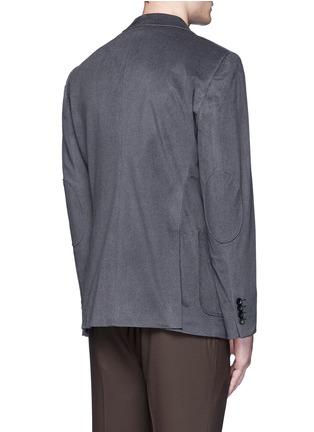 Back View - Click To Enlarge - ARMANI COLLEZIONI - Notched lapel velvet blazer