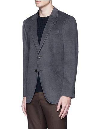 Front View - Click To Enlarge - ARMANI COLLEZIONI - Notched lapel velvet blazer