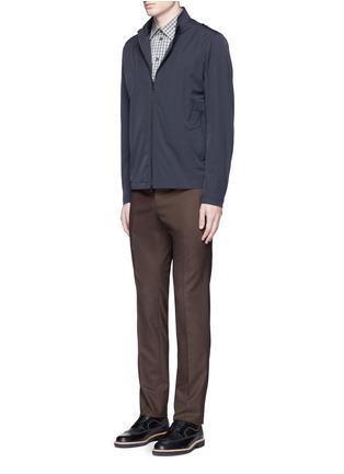 Figure View - Click To Enlarge - Armani Collezioni - Gingham check cotton shirt