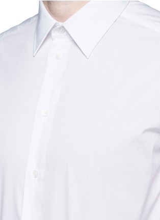 Detail View - Click To Enlarge - ARMANI COLLEZIONI - Slim fit stretch poplin shirt