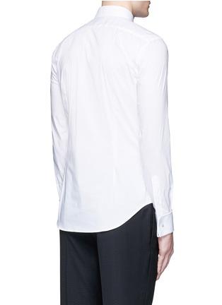 Back View - Click To Enlarge - ARMANI COLLEZIONI - Slim fit stretch poplin shirt