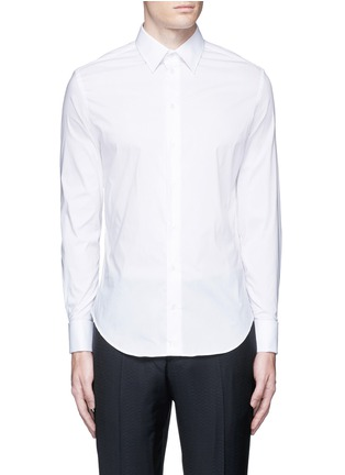 Main View - Click To Enlarge - ARMANI COLLEZIONI - Slim fit stretch poplin shirt