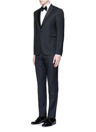 Figure View - Click To Enlarge - ARMANI COLLEZIONI - Slim fit stretch poplin shirt